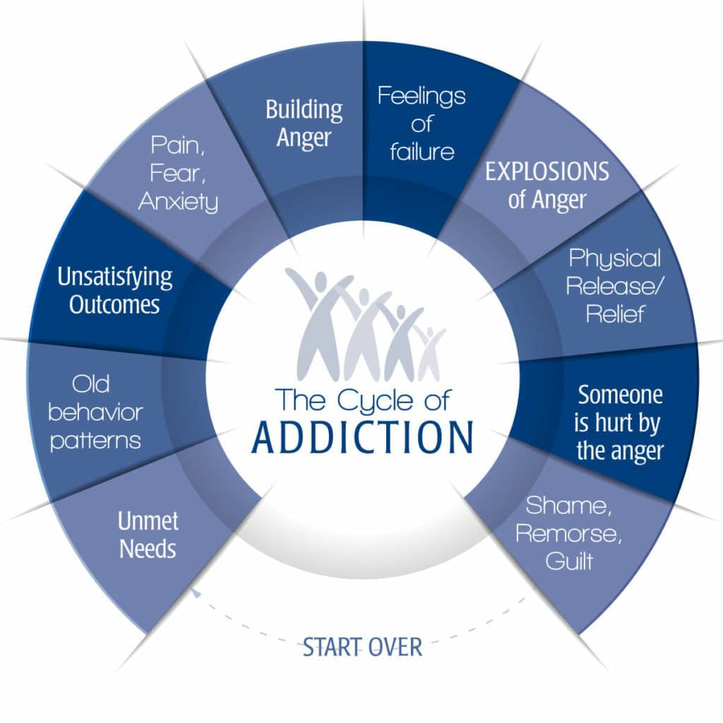 The Cycle of Addiction Infographic - Family First Intervention